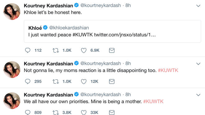 Kourtney Kardashian Twitter Rant About Sisters