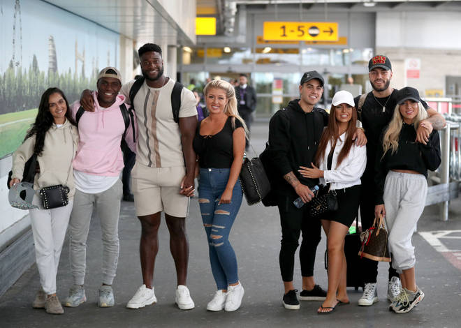 The Love Island finalists at the airport