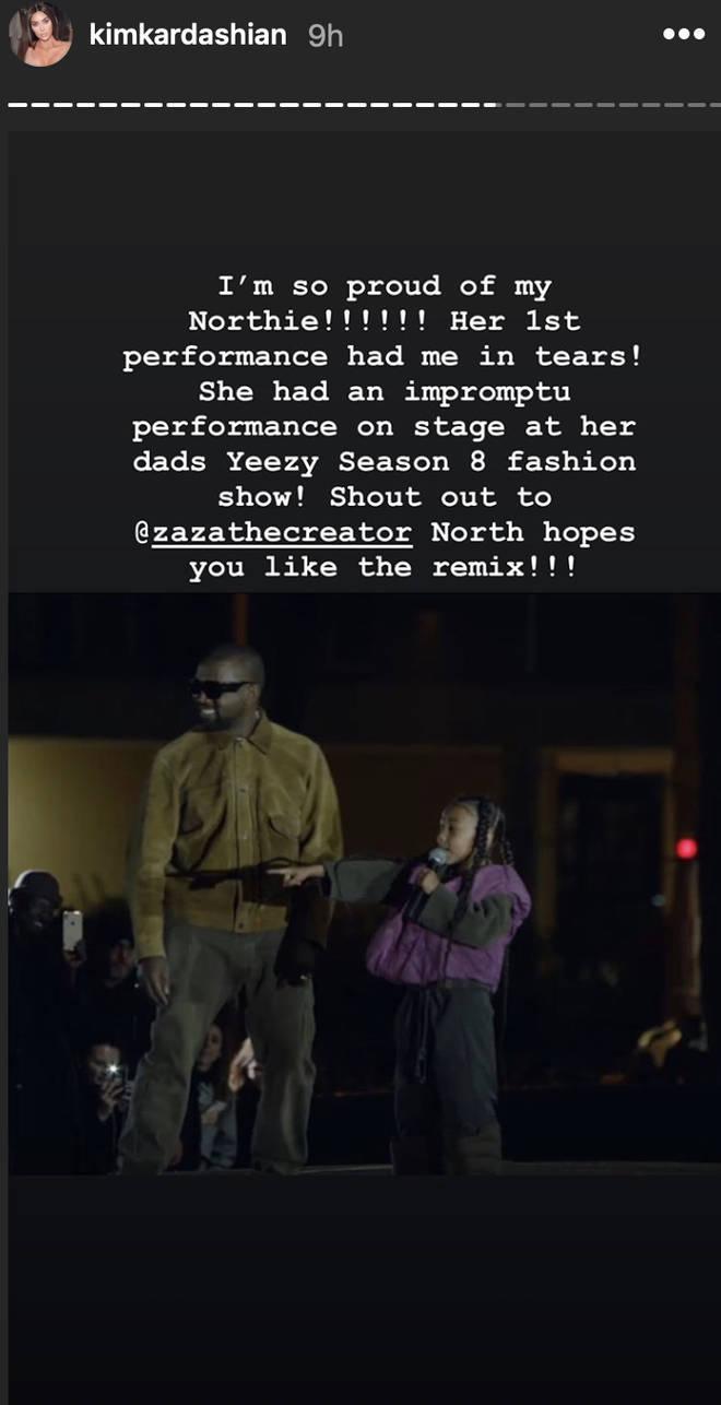 Kim Kardashian credited Zaza The Creator for North West's remix of her rap