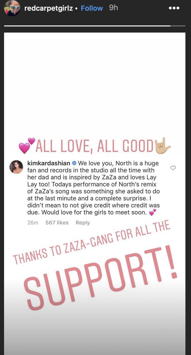 Zaza's parents responded to Kim Kardashian's statement