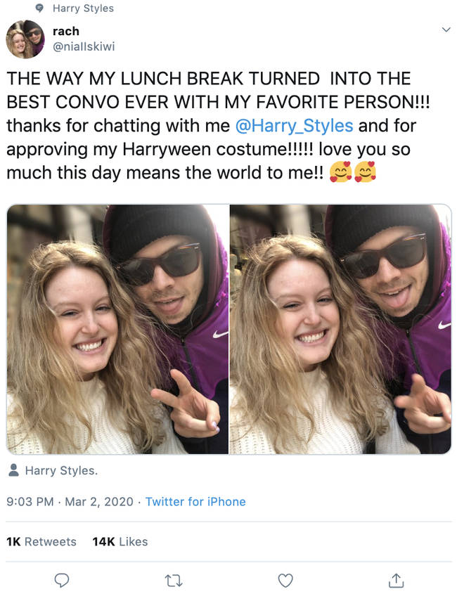 Harry Styles' fan shared adorable snaps from when she met him