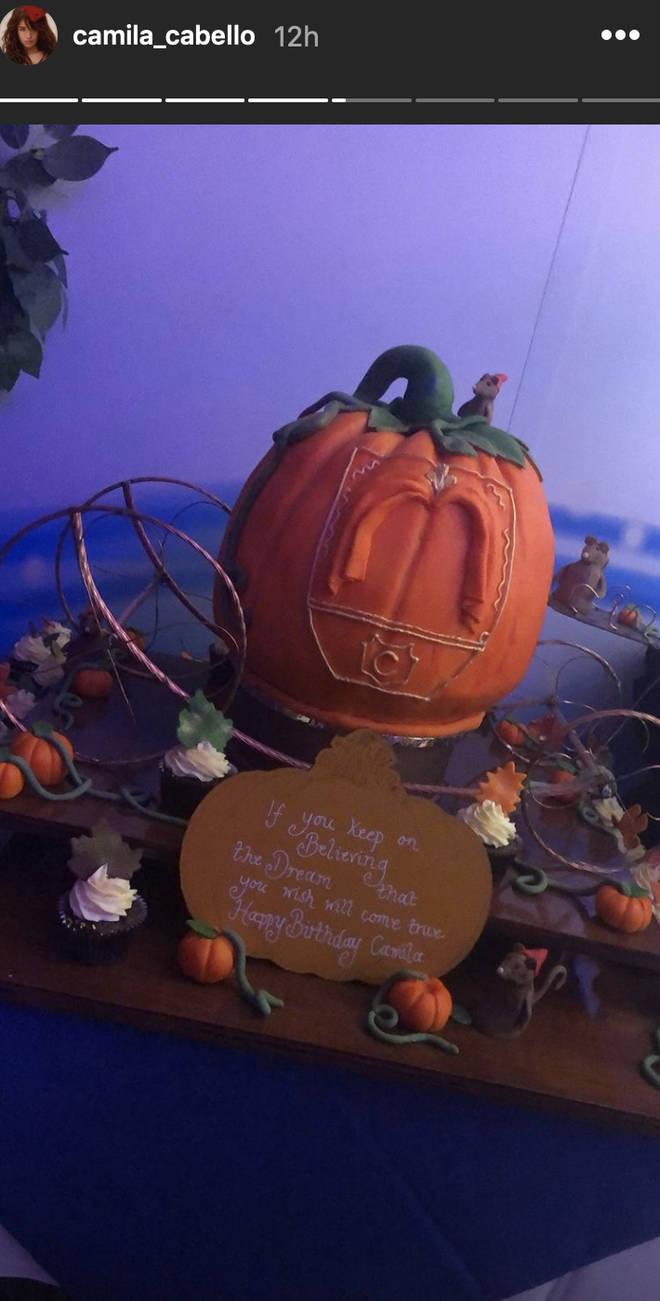 Cinderella took over Camila Cabello's party with a pumpkin cake
