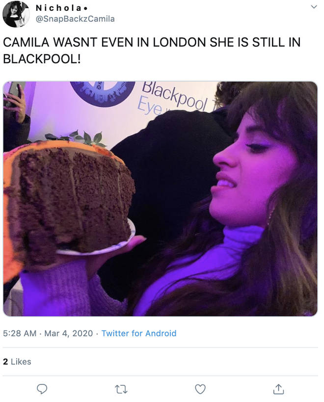 Fans couldn't get over Camila Cabello celebrating her birthday in Blackpool