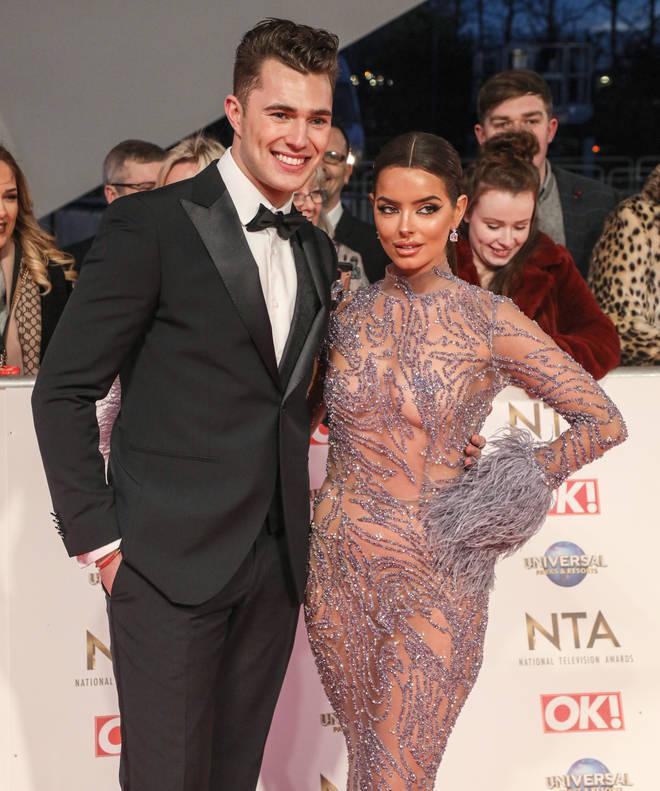 Maura Higgins and Curtis Pritchard at the National Television Awards 2020