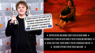 Lewis Capaldi has set up an initiative to help fans with mental health struggles at his shows