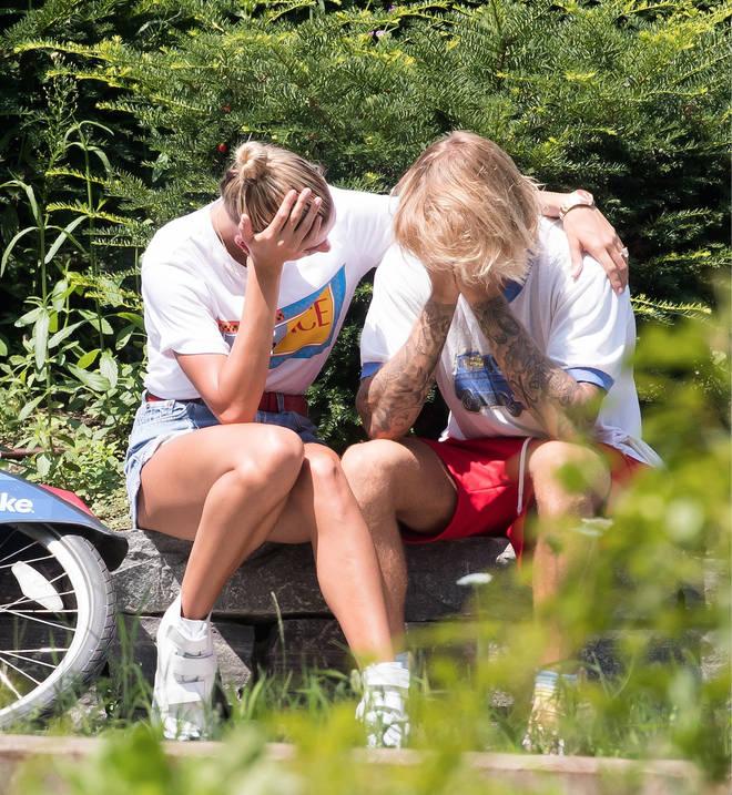 Justin Bieber & Hailey Baldwin's Emotional Heart To Heart