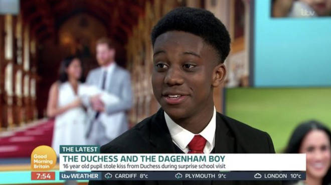 The 16-year-old appeared on Good Morning Britain to speak about the 'inspirational' encounter