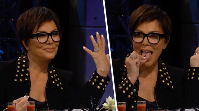 Kris Jenner squirms when asked whether she's engaged to Corey Gamble.