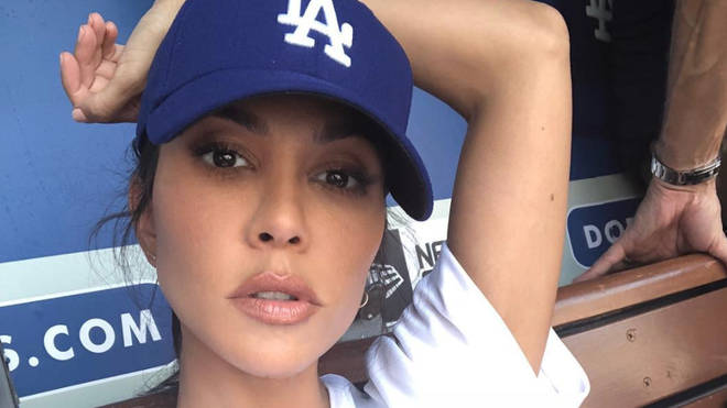 Kourtney Kardashian attends Dodgers baseball game
