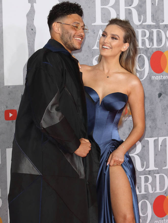 Perrie Edwards and her boyfriend at the BRITs in 2019