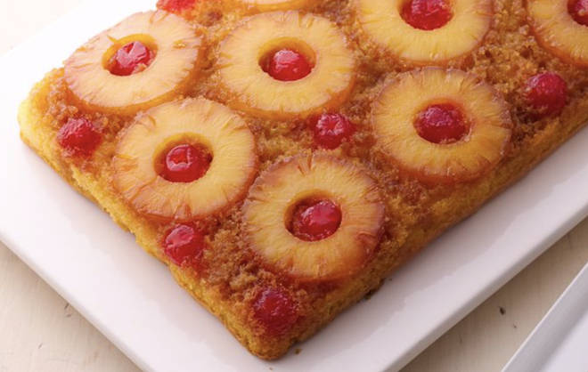 The pineapple upside-down cake isn't as hard to make as it looks