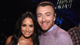 Demi Lovato and Sam Smith pictured together