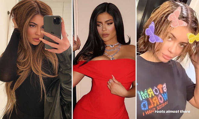 Kylie Jenner's natural hair is a short brown bob