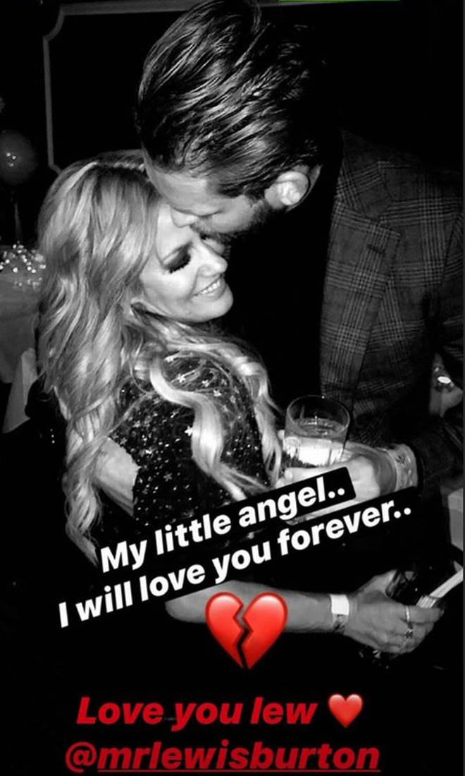 Lewis Burton posted this tribute to Caroline Flack on the day of her funeral