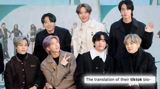 BTS' TikTok profile contains a translation error