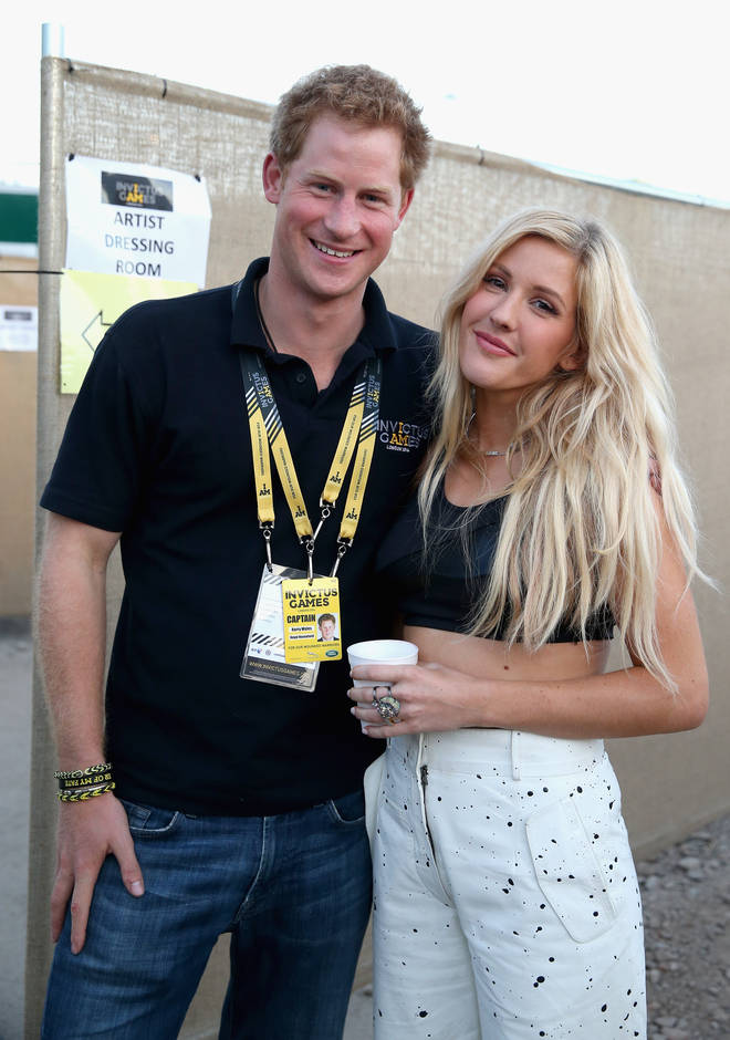 There were rumours that Ellie Goulding and Prince Harry got close in 2014
