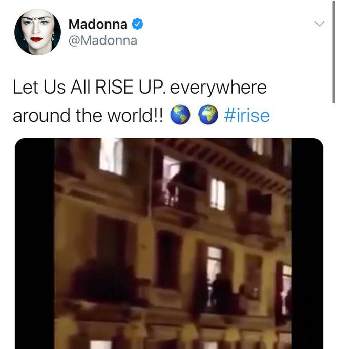 Madonna tweets about the coronavirus outbreak