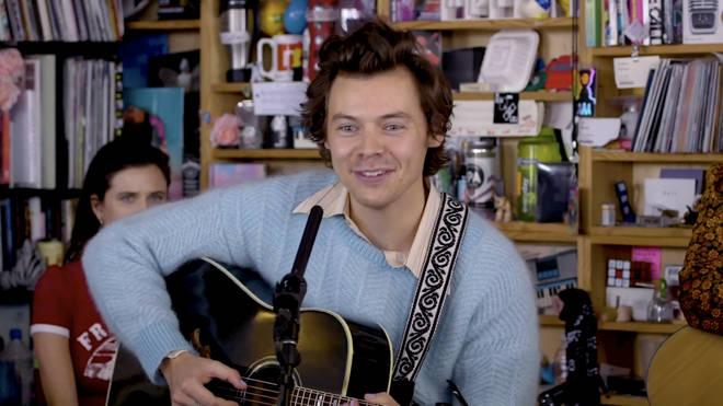 Harry Styles at NPR's Tiny Desk Session