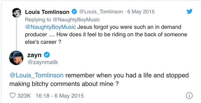 The feud between Louis Tomlinson and Zayn went down in 2015
