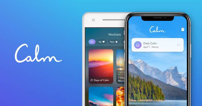 Download the Calm app for meditation and stress relief