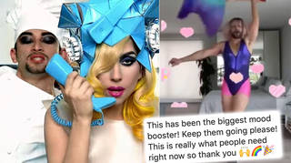 A dancer has started virtual dance parties on social media