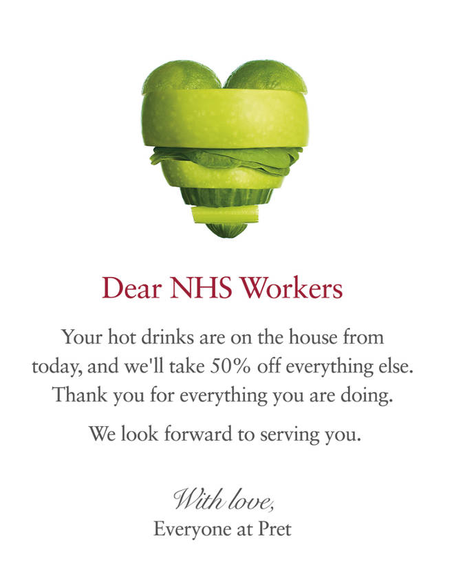 From Pret To McDonald's – The Restaurants Giving NHS Workers Free ...