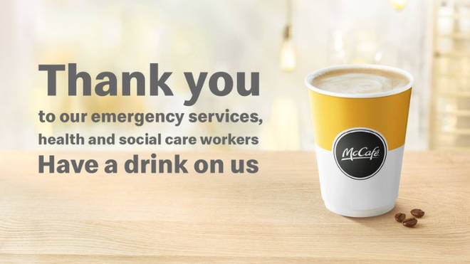McDonald's is also rewarding healthcare and social care workers