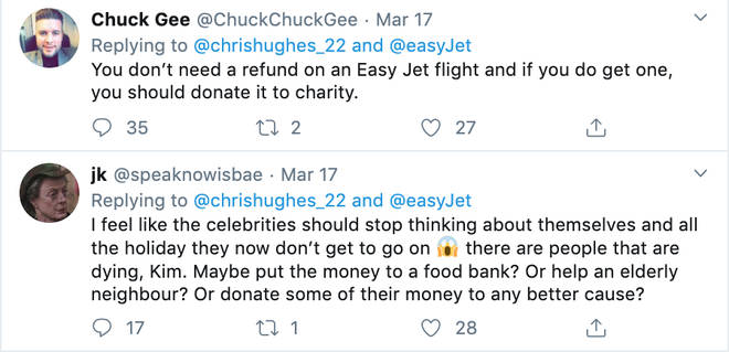 People criticised Chris Hughes for asking EasyJet for a refund