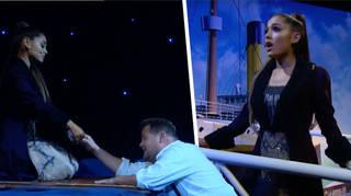 Soundtrack to 'Titanic' w/ Ariana Grande & James Corden