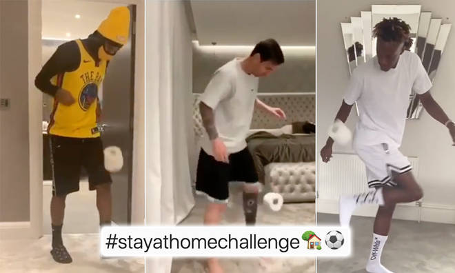 Stars have been taking part in the 'stay at home challenge'