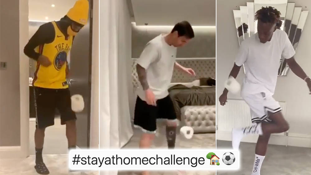 What Is The Toilet Roll Keepie-Uppie Challenge? Celebs And ...