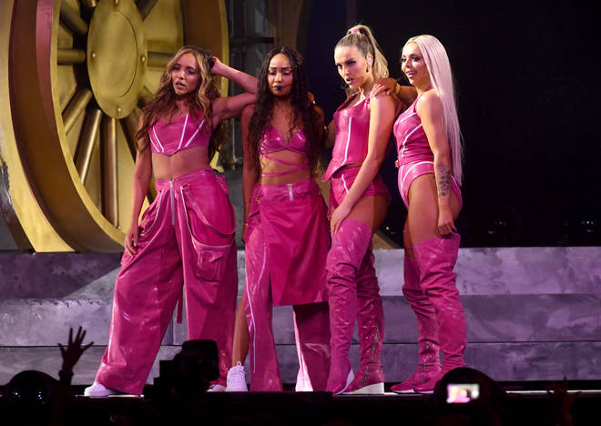 Little Mix performing at The BRIT Awards 2019