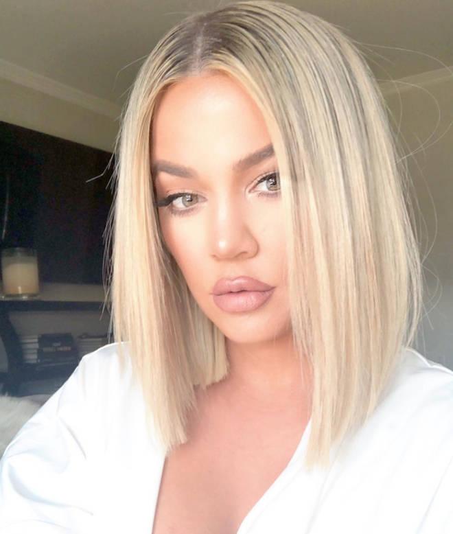 Khloe Kardashian pouts for selfie with short blonde bob