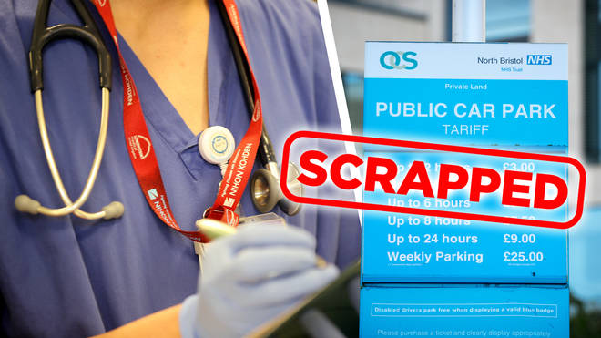 NHS staff to receive free car parking at hospitals