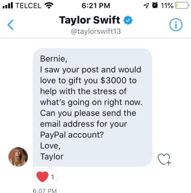 Taylor Swift has been sending money to fans affected by coronavirus and the government shutdowns