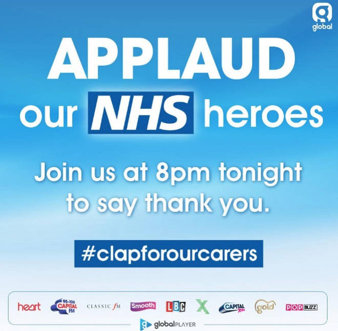 Capital and our sister stations will be getting involved in applauding our NHS heroes