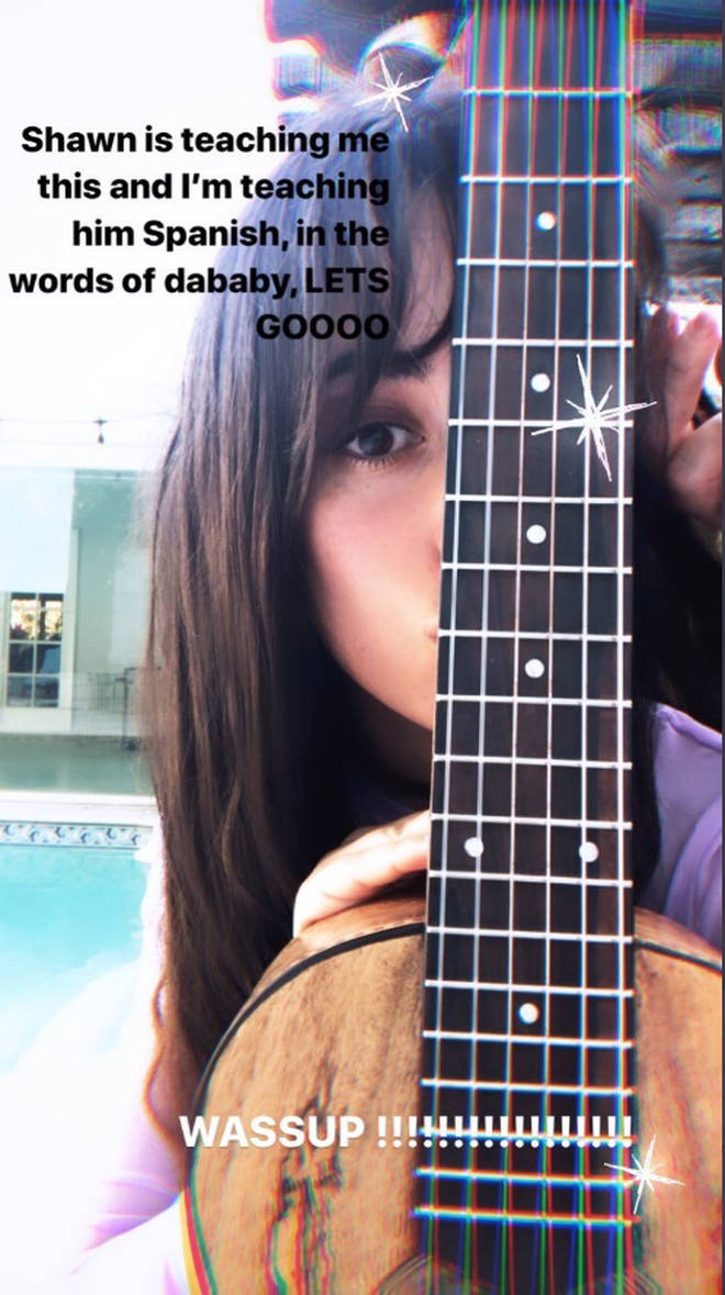 Camila Cabello is learning to play the guitar