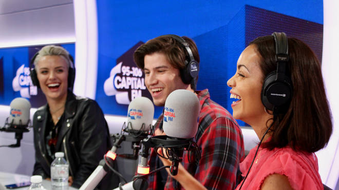 The cast of Krypton - Wallis Day, Cameron Cuffe and Georgina Campbell on Capital Breakfast
