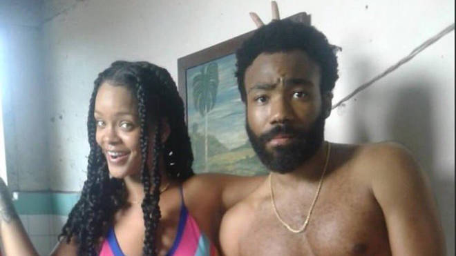 Rihanna And Donald Glover On Set In Cuba