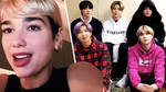 Dua Lipa & BTS perform from home on The Late Late Show