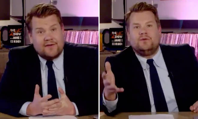 James Corden made the comments at the end of his 'Late Late Show' special.