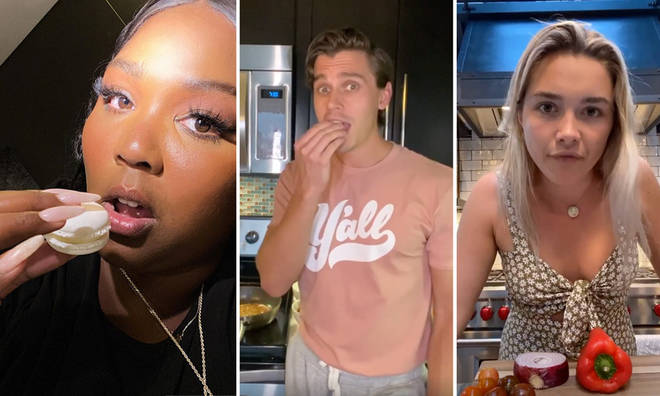 A number of celebrities are showing off their cooking skills on social media