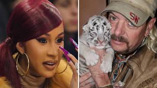 Cardi B is a big fan of Tiger King's Joe Exotic.