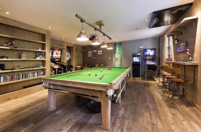 Liam Payne's Surrey mansion boasts a games room