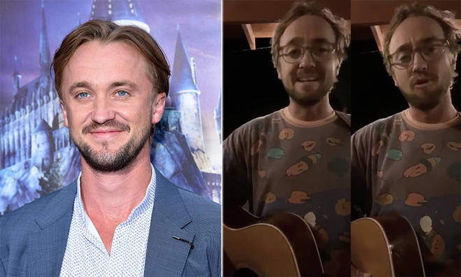 Tom Felton serenaded fans on Instagram