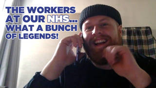 Tom Walker performed a song for NHS staff