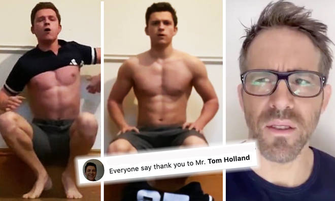 Tom Holland's hand stand challenge has got people losing it