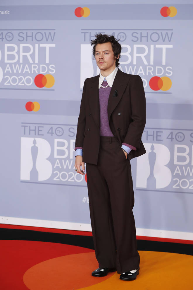 The Harry Styles stan printed this iconic look for the life-size cut-out