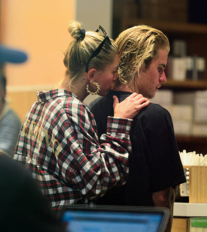 Hailey Baldwin Kisses Justin Bieber As They Buy More Coffee