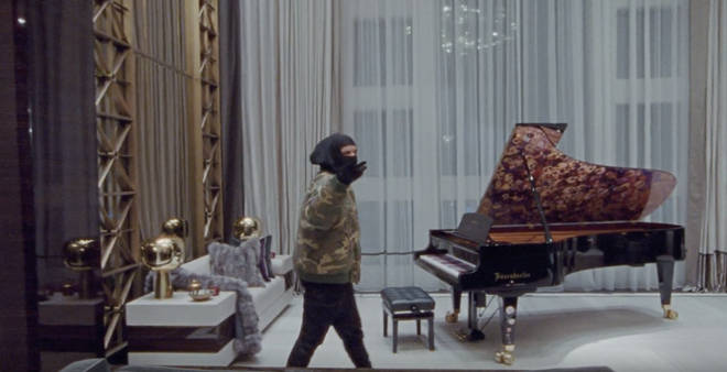 Drake has an impressive piano in a room by itself